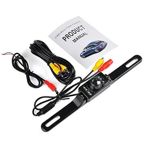 Universal 120 Degree Car Rear View Camera for Security Backup Parking, Reversing backup rear view Camera IP66 Waterproof with Distance scale line 7 LED