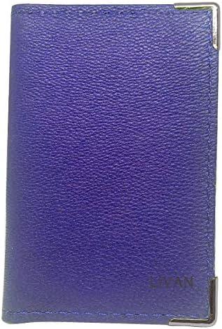 Porte Carte Etui Passe Navigo Carnet Ticket Bus M/étro Bleu en Cuir Compact et Pratique L067 LIVAN/® plusieures Couleurs