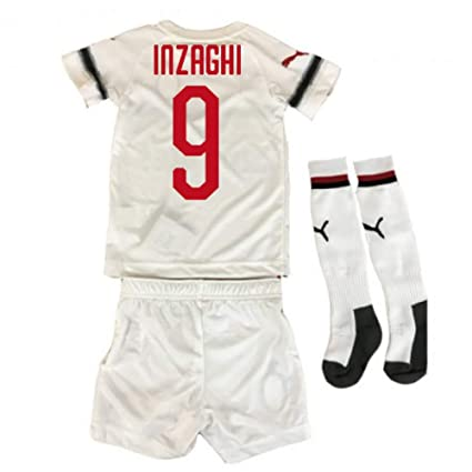 1655076579a Image Unavailable. Image not available for. Color: UKSoccershop 2018-2019  AC Milan Puma Away Mini Kit ...
