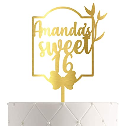 Swell Personalized Sweet 16 Birthday Cake Topper With Customized Name Funny Birthday Cards Online Necthendildamsfinfo