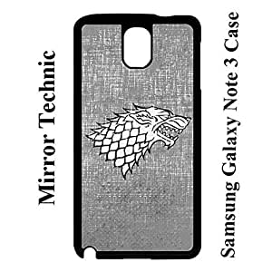 Customized Funny Game of Thrones - Stark Logo Back Plastic Case for Samsung Galaxy Note 3 N9005, Samsung Note 3 Eco Cover Case