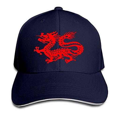 Macevoy Chinese Magic Dragon Casual Unisex Unstructured Cotton Cap Adjustable Baseball Hat Cap -