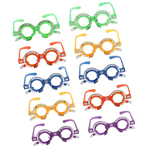 MagiDeal Pack of 10 Pieces Optical Trial Lens Frame Eyeglass Optometry Optician Equipment New 52mm-70mm