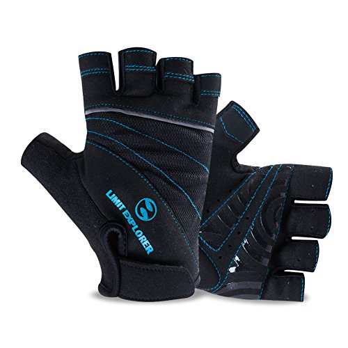 (Limit Explorer Ultra Protection Cycling Gloves (Half Finger), Breathable and Anti-Slip for Men/Women (Medium))