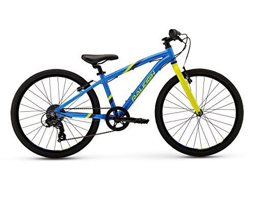"Raleigh Bikes Kids Cadent 24 Urban Fitness Bike, 24""/One Size, Blue Raleigh Bikes"