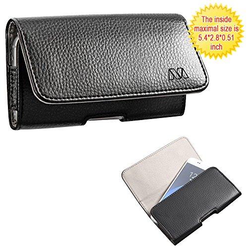 Wallet Purse Poket Fits Universal Apple iPhone LG Motorola etc. MYBAT Textured Horizontal Pouch - Black/Gray 5.4