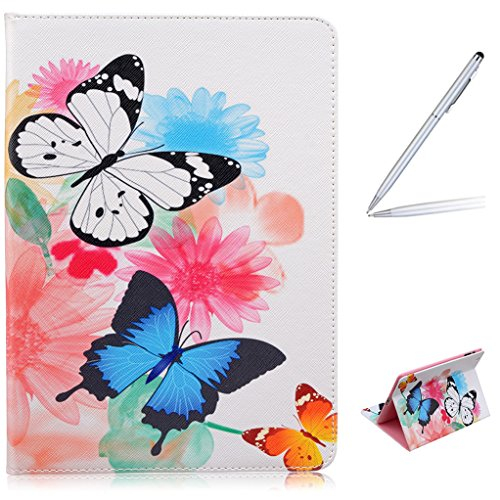 Trumpshop Tablet PC Protective Case for Apple iPad 4th Generation / iPad 4 (9.7-Inch) + Butterflies and Flowers + Premium PU Leather Flip Wallet Cover Bookstyle Stand Feature Shockproof