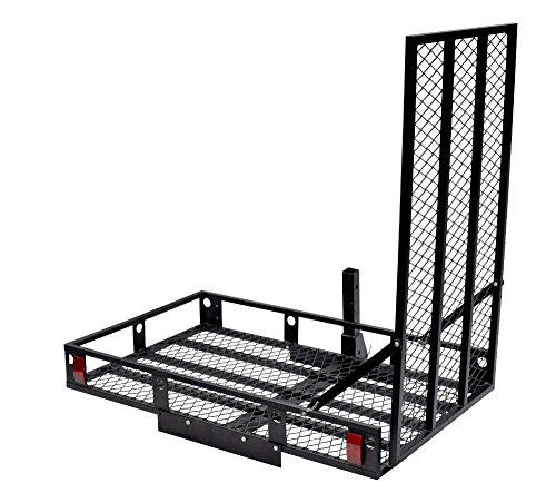 Heavy Duty 500-Pound Hitch Mounted Wheelchair Car Mobility Scooter Ramp Rack Car from Unknown