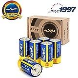 ALLMAX All-Powerful Alkaline Batteries- C (6-Pack), Ultra Long Lasting, Leak-Proof, 1.5V Cell