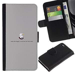 // PHONE CASE GIFT // Moda Estuche Funda de Cuero Billetera Tarjeta de crédito dinero bolsa Cubierta de proteccion Caso Apple Iphone 4 / 4S / Doctors eagle /