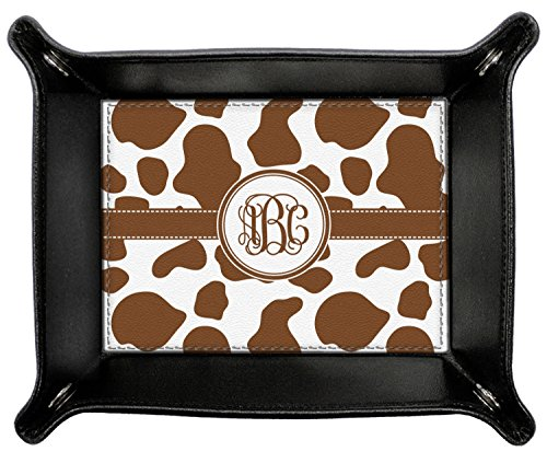 Cow Print Genuine Leather Valet Tray (Personalized) by RNK Shops