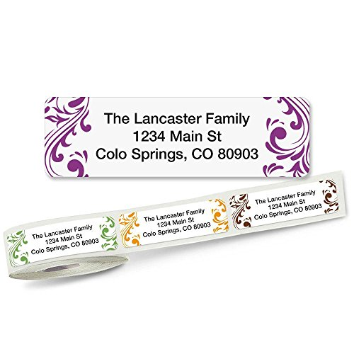 Address Labels (5 Designs) Roll of 250 (5 Designs Rolled Address Labels)