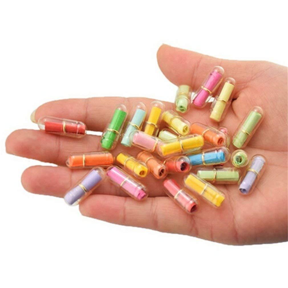 Bottigliette plastica trasparente a forma di pillola messaggio mini capsule amore amicizia che desiderano bottiglie con carta JXJ