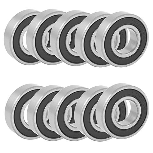 uxcell 15 Inner Dia 32mm OD 9mm Thick Deep Groove Ball Bearings 6002RS 10pcs