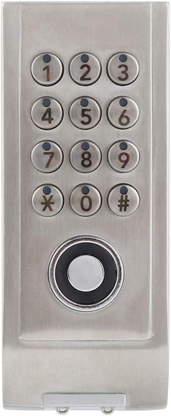 Cerradura de combinaci/ón de c/ódigo digital para armario de acero inoxidable con cerradura de contrase/ña sin llave cerradura electr/ónica de c/ódigo digital para la seguridad del hogar