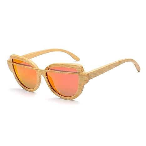 Gafas Gafas de Sol de Madera para Mujer Tendencia de la Moda ...