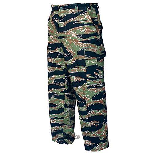 Tru-Spec BDU Trousers Cotton Tiger Stripe Green XS-Reg ()