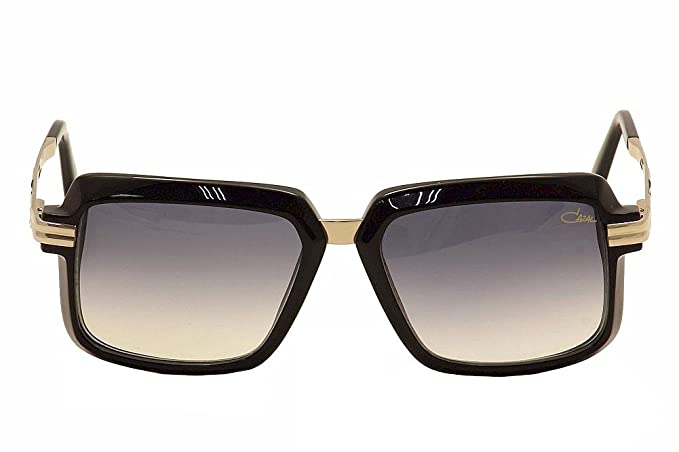 d2e44daa66c Amazon.com  Cazal 6009 S Sunglasses 001 Shiny Black Gold Grey Gradient   Clothing