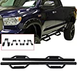 running boards for tundra - Nerf Bar Fits 2007-2018 Toyota Tundra Double Cab | Side Step Bar Running Boards Black by IKON MOTORSPORTS | 2008 2009 2010 2011 2012 2013 2014 2015 2016 2017
