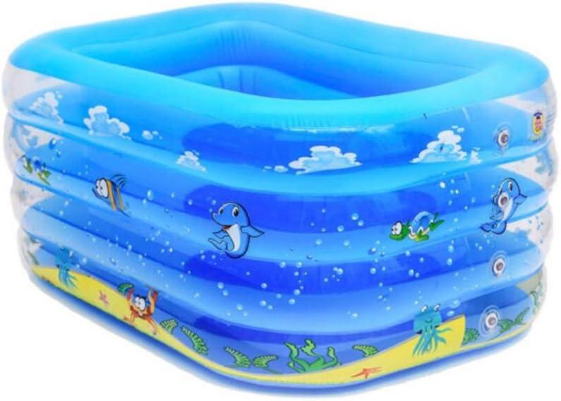 CIGONG Piscina para bebés Piscina Hinchable Jugar a la Piscina Cuadrado Ajustable + Tipo U Debajo del aro del Brazo pequeño 140x110x70cm bañera