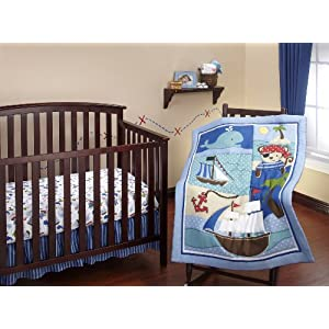 51-8KjOIOoL._SS300_ Nautical Crib Bedding & Beach Crib Bedding Sets