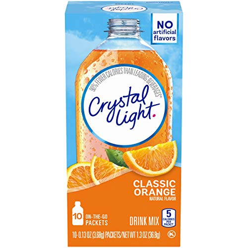 American Classic Orange Light - Crystal Light Classic Orange Drink Mix (60 On the Go Packets, 6 Canisters of 10)