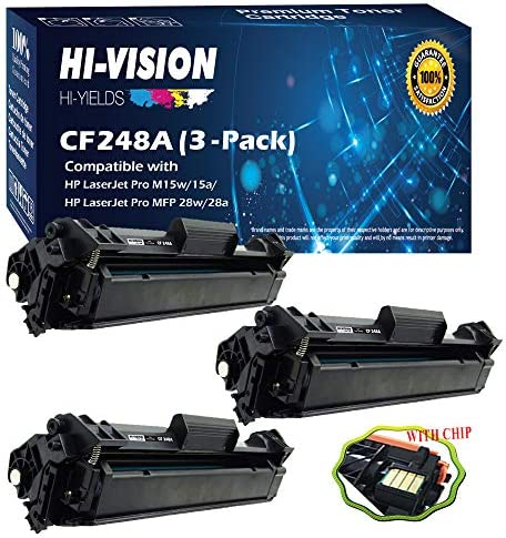 (3-Pack Black) Compatible 48A CF248A Toner Cartridge Replace