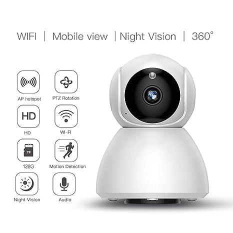Zmsdt Cámara Interior inalámbrica con cámara IP WiFi de 720P con visión Nocturna Detección de Movimiento