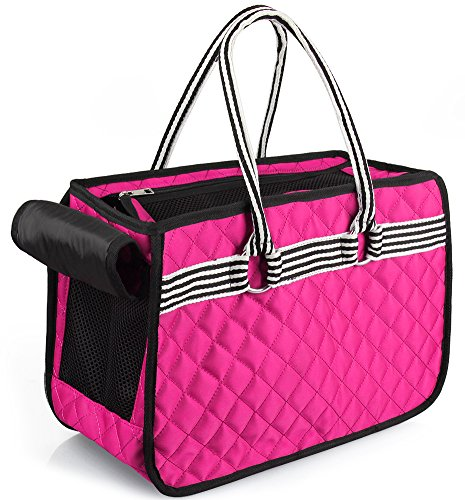 [gardom Fashion Airline Approved Pet Carrier, Soft Cat Travel Purse, Pets Handbag for Small Dogs Cats Puppies Rabbits under 10lbs] (Purse Pet Carrier)
