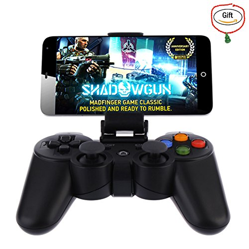 Baigeda Wireless Bluetooth Game Controller for Computer PC Game Hardware Joystick Laptop Console Joypad Rechargeable Android Devices Gamepad with Clip for Android Phone Tablet Pad Smart TV BOX Samsung