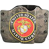 US Marine Corp Camo Kydex OWB holsters for more than 135 different handguns. Left & Right versions plus Speed Clips and Paddle Back available.