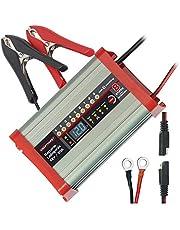 Dino KRAFTPAKET 136320 batterijlader 20 A-12 V met campingfunctie nachtmodus en geheugenopslag voor personenauto's, campers, zilver