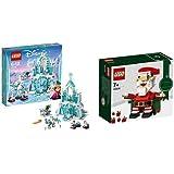 LEGO 乐高 迪斯尼 冰雪奇缘 冰雪城堡 41148与LEGO 乐高 拼插类玩具 圣诞老人