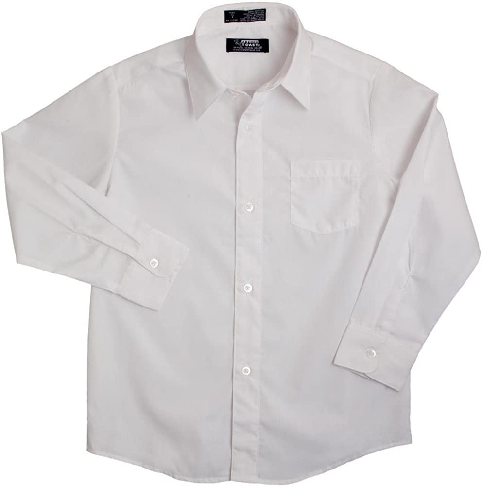 French Toast Little Boys Long Sleeve Poplin Dress Shirt E9004