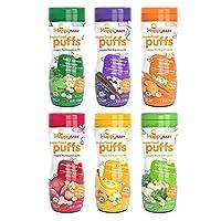 Happy Baby Organic Superfood Puffs Surtido de variedad de paquetes 2.1 onzas (paquete de 6)