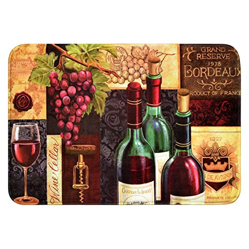 Daisy Fuentes Relaxed Chef DFRC27 Wine Cellar Kitchen Mat (Chef And Wine Decor)