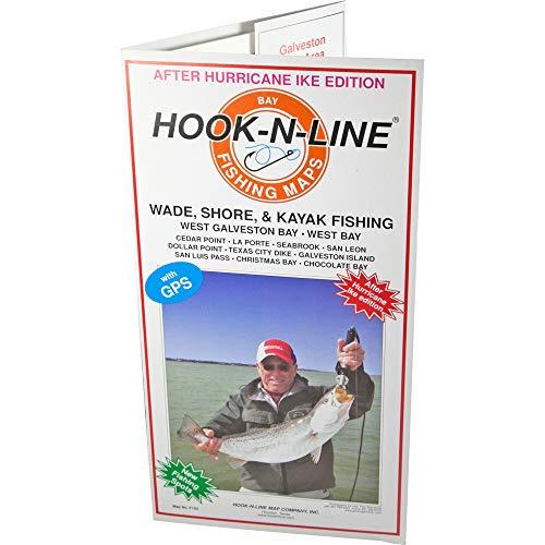 (Hook-N-Line Map Galveston Water Proof Wade Fishing Chart)