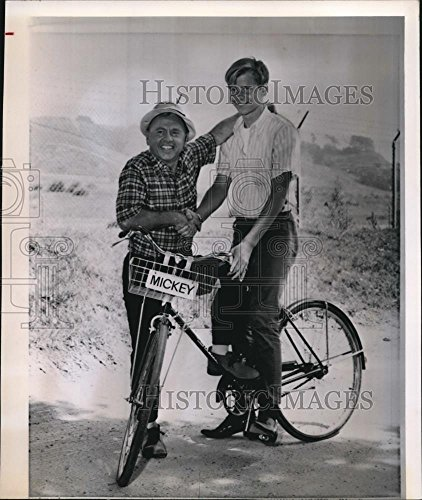 1964 Wire Photo Mickey Rooney his Son Tim Rooney - cvw06514-8.75 x 7.5 in. - Historic Images