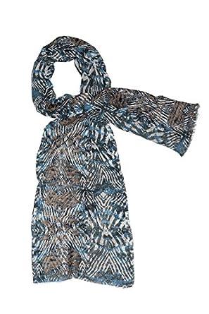 Devota & Lomba - Chal lana estampado azul: Amazon.es: Ropa y ...