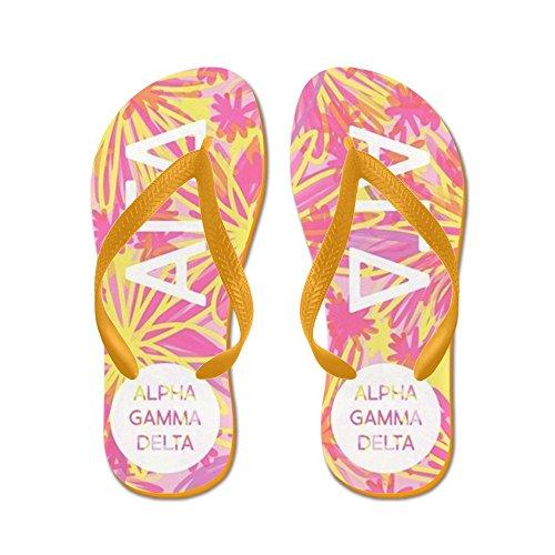 Cafepress Alpha Gamma Delta Tropisk Rosa - Flip Flops, Roliga Rem Sandaler, Strand Sandaler Apelsin