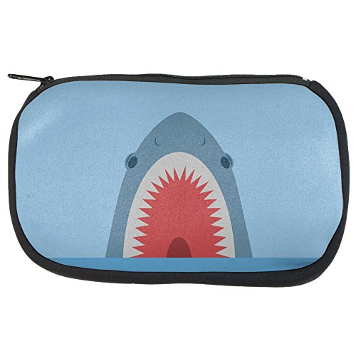 Cute Fun Shark Attack Makeup Bag Multi Standard One Size -