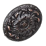 GlideRite Hardware 5710-ORB-100 Old World Ornate Oval Cabinet Knobs, 100 Pack, 2'', Oil Rubbed Bronze