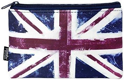 Monster Stationery - Estuche de neopreno con un solo bolsillo, diseño de bandera de Reino Unido: Amazon.es: Oficina y papelería