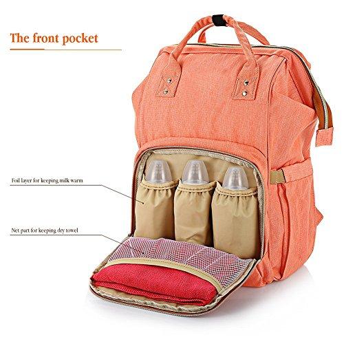 Najer pañal Mochilas todo en uno práctico bebé bolsa de pañales con bolsillo separado azul azul rosa
