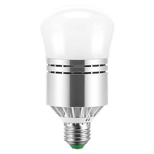 SODIAL Bombillas LED Atardecer al amanecer Sensor Bombilla Lampara de iluminacion inteligente 12W E27 Zocalo 3200k