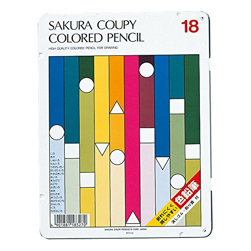 SAKURA COUPY-PENCIL 18 colors colored pencil Standard PFY 18