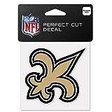 WinCraft NFL New Orleans Saints 63056011 Perfect Cut Color Decal, 4″ x 4″, Black