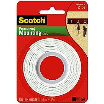 3M Scotch 114/DC Heavy Duty Mounting Tape, 1 x 50-Inch
