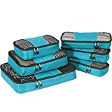 eBags Packing Cubes for Travel - 6pc Value Set - (Aquamarine)