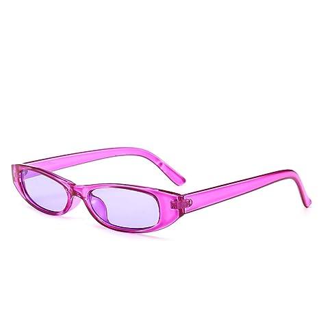 Yangjing-hl Pequeña Caja de Gafas de Sol C Marco Morado ...